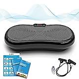 Plateforme Vibrante et Oscillante Ultra Slim Bluefin Fitness | 5 Programmes + 180 niveaux | Haut-parleurs Bluetooth | Design Anglais Élégant