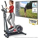 Sportstech Vélo elliptique CX625 ergomètre Compatible avec Application Smartphone, Poids d'inertie de 24 KG, 22 programmes de Fitness, HRC + Porte-Tablette