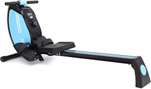 Rameur de salle de sport à domicile, système de tension magnétique, bouton de tension à 8 niveaux, réglage facile, économie d'espace, affichage LED