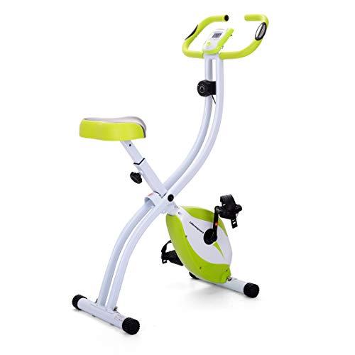Ultrasport F-Bike 150 d'Appartement Pliant Main, Vélo de Fitness avec Console et Capteurs de Pouls, Pliable Mixte Adulte, Vert, Taille unique