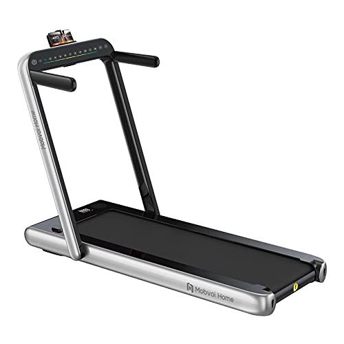 Mobvoi Home Tapis de Course, Haut-Parleur Bluetooth intégré, télécommande, Machine de Marche et de Course pour l'exercice de Fitness à Domicile en intérieur Treadmill Silver Argent Taille Unique