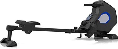 Fitness Deluxe Rameur magnétique pliable avec 8 réglages de résistance et roues de transport Bluetooth
