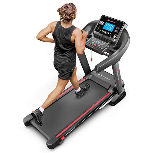 Sportstech Tapis de Course Professionnel F37 avec Moniteur de fréquence Cardiaque | événements vidéo Kinomap | 7HP jusqu'à 20 km/h + système de Lubrification | Pliable + Haut-parleurs | jusqu'à 150kg