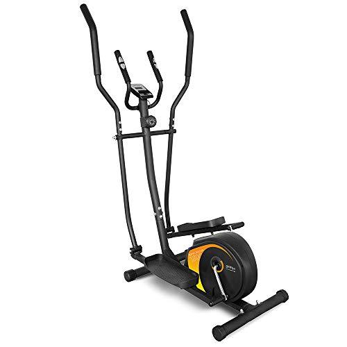 gridinlux - Bicyclette elliptique multifonctionnelle. Double Guidon Ergonomique, Moniteur de fréquence Cardiaque, écran LCD, Frein magnétique, intensité réglable, 8 Niveaux.