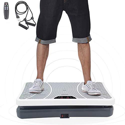 ISE Plateforme Vibrante pour Musculation et Perte de Poids, télécommande et Bandes élastiques (SY - 8008 - SV.)