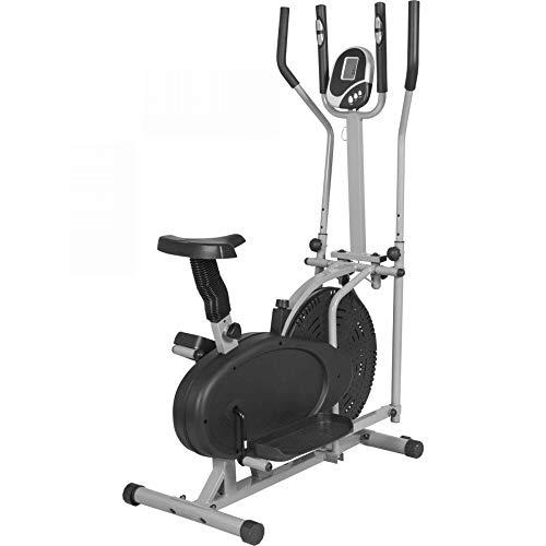 Gorilla Sports Vélo elliptique Gris - Cross Trainer - Mixte Adult
