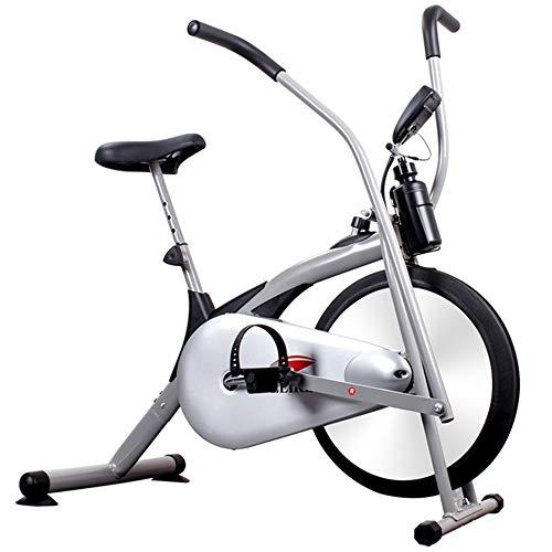 Smile Vélo d'appartement pour Fan de vélo Vertical avec système de résistance de l'air - Équipement de Conditionnement Physique d'extérieur/ménage à l'infini, Blanc