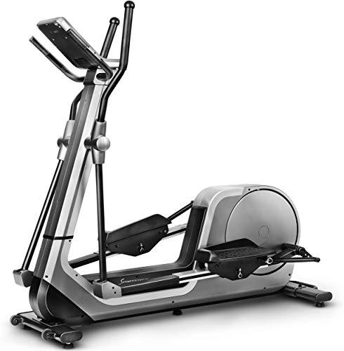 Sportstech LCX800 Vélo elliptique- Marque de qualité Allemande - Vidéo Events et Console Multifonctions multijoueur APP &, Volant d'inertie de 24 kg, 12 programmes d'entraînement + Mode HRC (LCX800)