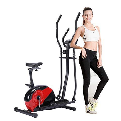 Lumiereholic Vélo elliptique d'entraînement à Domicile avec Résistance Magnétique Parcours de Course Intérieurs Ergometre Appareil Fitness Stepper Crosstrainer Exerciseur Cardio avec Ecran LCD
