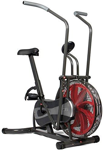 SportPlus - Vélo d'appartement - Fan bike - Résistance réglable en continu (par système éolien) - ordinateur de contrôle - Entraînement Cardio et Fitness - Sécurité testée