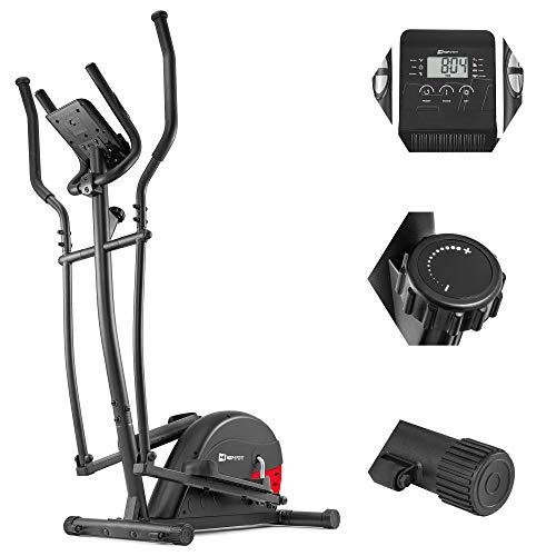 HS HOP-SPORT Vélo elliptique HS-003C Focus Ergomètre Nordic Walking Rouge | Poids Max 120 kg | Ordinateur