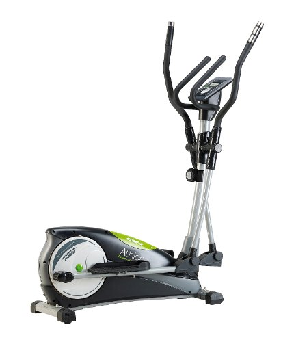 BH Fitness Athlon G2334 Vélo elliptique. Système inertiel10 kg. Système de frein magnétique. Foulée. 30 cm. Répose-pieds réglable. Console électronique à LCD. Noir et vert