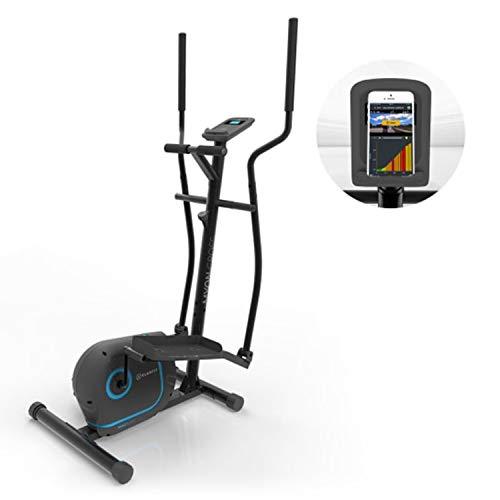 KLAR FIT Klarfit Myon Cross - Vélo elliptique, Volant d'inertie 12 kg, SilentBelt System, Noir