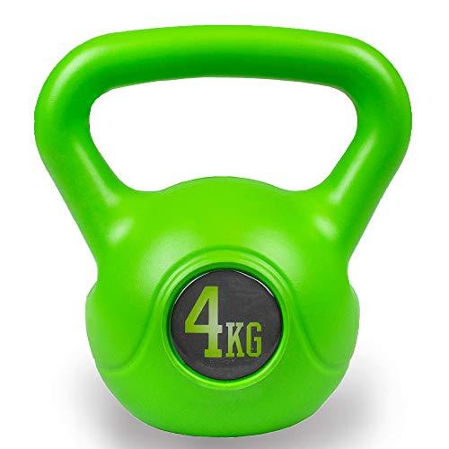 Phoenix Fitness 4KG Cloche de Bouilloire de Poids Lourd pour l'entraînement Cardio-Musculaire - Kettlebells pour l'entraînement de Fitness à pour l'haltérophilie de Musculation