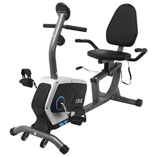 ISE SY6801 Vélo Semi-allongé, Noir, 1205096