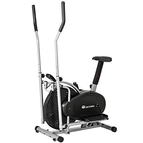 TecTake 2 en 1 ERGOMETRE Appareil DE Fitness Stepper Crosstrainer ELLIPTIQUE EXERCISEUR Cardio avec ÉCRAN LCD