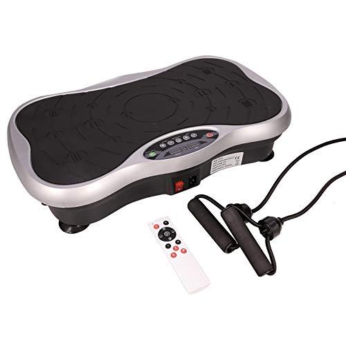 Z ZELUS Mini Plateforme Vibrante et Oscillante, Fitness pour Perte de Poids dans la Maison, 0-99 Niveaux, 10 Programmes Automatiques, avec Télécommande, Cordes Élastiques et 200W Moteur Tranquille