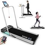 Tapis de Course Pliable TASK 2.0 2-en-1 Bluefin Fitness | Tapis de Marche à la Maison | 8 Km/h | Tech de Protection des Articulations | Appli Smartphone | Haut-Parleurs Bluetooth | Machine de Course