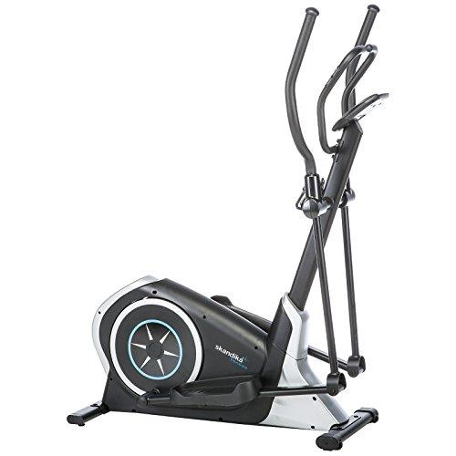 skandika Cardiocross Pegasos - Vélo elliptique - 12 programmes - 32 Niveaux de résistance - Massse d'inertie 12 kg - Max.150 Kg - Noir