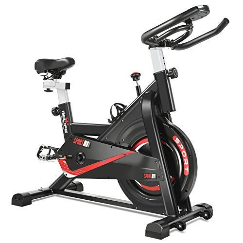 RELIFE REBUILD YOUR LIFE Vélo d'appartement Fitness Exercice Bikes Intérieur Cardio Entraînement Silencieux Réglable Sport Maison