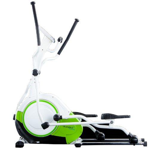 SKANDIKA Jupiter Vélo elliptiqueMasse d'inertie 21kg et Grand Ordinateur Multifonction avec 20programmes d'entraînement Dont 1Programme de Perte de Graisse corporelle
