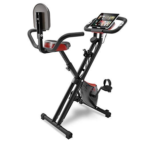 Sportstech Vélo d'appartement Fitness avec Console LCD et système de Tension | Marque de qualité Allemande | Vélo d'appartement avec siège Confort et capteurs | Vélo Pliable pour la Maison | X100-B
