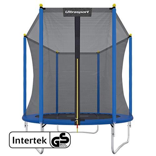 Ultrasport Outdoor Trampoline de jardin 100 - 150kg, 183 cm - 460 cm, trampoline set complet avec tapis de saut, filet de sécurité et revêtement pour les bords, 100 - 150kg, 183 cm - 460 cm