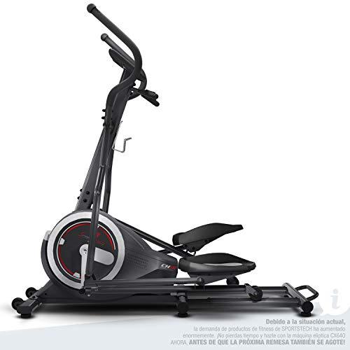Sportstech Vélo elliptique d'Appartement CX640 Compatible Application Smartphone avec Video Events & Multiplayer APP, Volant d'inertie 24 KG, 26 programmes d'entraînement avec Fonction HRC (ES)