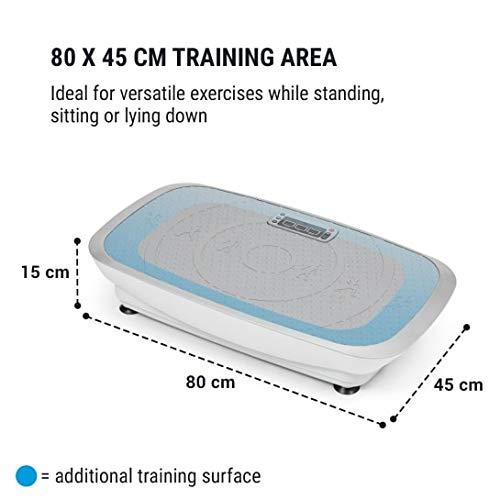 Klarfit Vib 1000 - Plateforme vibrante , Appareil fitness , 30 niveaux d'intensité , ordinateur d'entraînement , écran LCD , rouleau d'appui , peu encombrant , max. 120 Kg , bandes de fitness , noir
