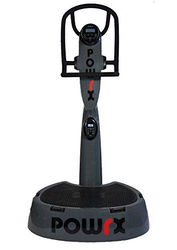 POWRX Plateforme vibrante oscillante Active Evolution 4.0 + Kit d'entraînement Offert (Gris)