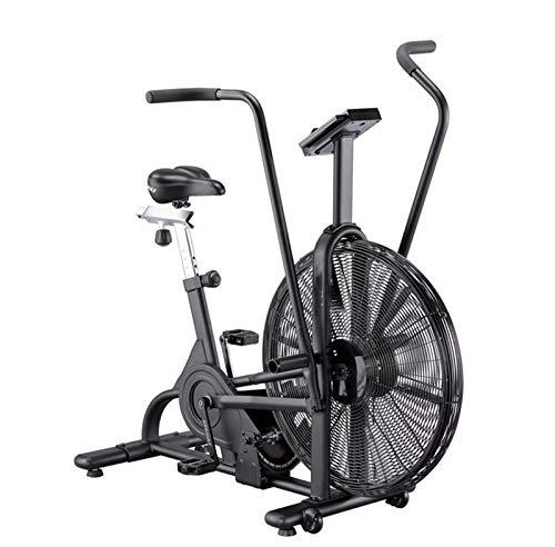 Smile Vélo d'exercice à Ventilateur avec système de résistance à l'air - Noir - Équipement de Conditionnement Physique à résistance Infinie pour l'extérieur/Les ménages