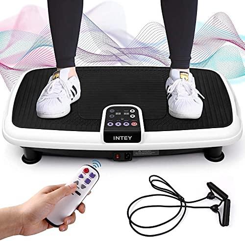 INTEY Plateforme Vibrante Oscillante pour Fitness, 6 en 1 Multifonctions, Perte de Poids, Circulation Sanguine, 3 Zones de Vibration + 2 Modes + 20 Niveaux, Capacité de 120kg