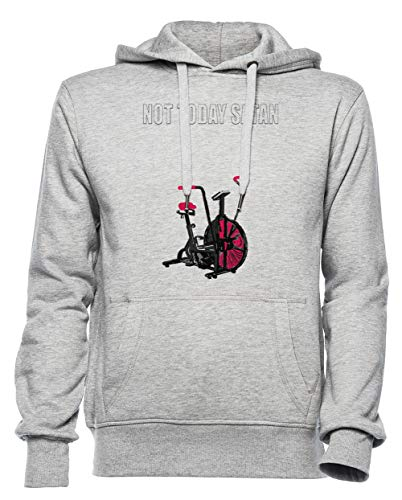 Rundi Not Today Satan Air Assault Bike Crossfit Shirt Homme Femme Unisexe Sweat-Shirt Sweat À Capuche Gris Taille L - Women's Men's Unisex Hoodie Sweatshirt Grey