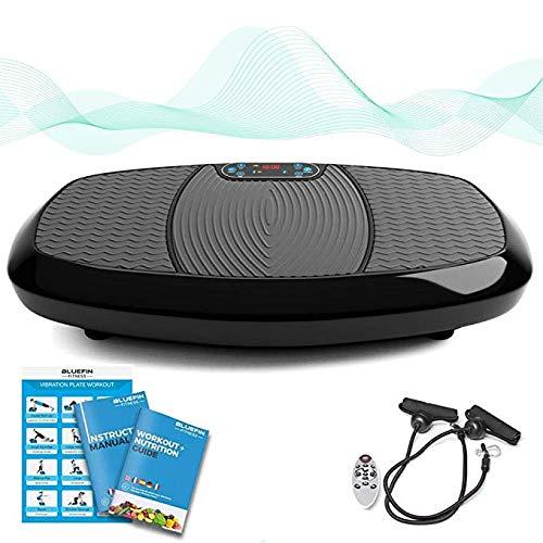 Bluefin Fitness Plateforme Vibrante & Oscillante à Doubles Moteurs 3D   Oscillation, Vibration + Mouvement 3D   Grande Surface Anti-Dérapante   Haut-parleurs Bluetooth   Design Anglais (Noir Mat)