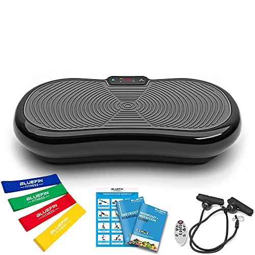 Bluefin Fitness Plateforme Vibrante Ultra Slim   Perte de Poids & Brûleur de Graisses à la Maison   5 Programmes + 180 Niveaux   Haut-parleurs Bluetooth