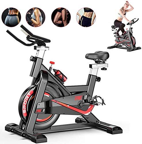 Fnova Vélo d'Appartement Fitness, Exercice Bike/Le Gymnase avec Moniteur de fréquence Cardiaque/Écran LCD/Capteurs de pouls, Vélo Sport Biking