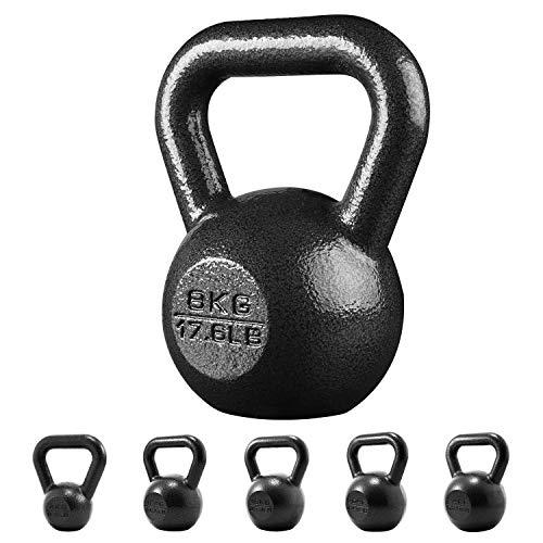 PROIRON Casting en Fonte Kettlebell Poids pour Home Gym Fitness et Musculation 8kg