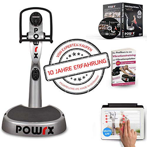 POWRX Plateforme vibrante oscillante Active Evolution 2.7 + Kit d'entraînement Offert (Blanc)