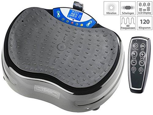 Plateforme vibrante oscillante WBV-620.3D avec extenseurs et télécommande [Newgen Medicals]
