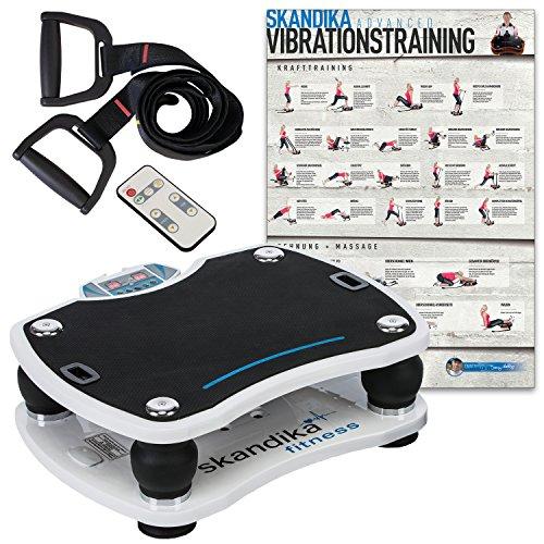 skandika Home Vibration Plate 500 - Plateforme vibrante oscillante - 4 Programmes (Blanc)