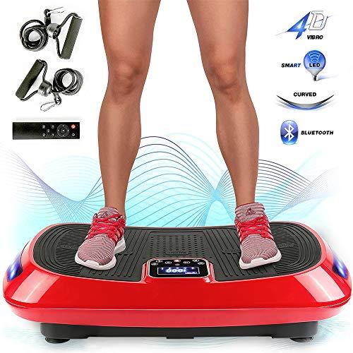 Flyelf 4D Plateforme Vibrante, avec Bluetooth,3 Moteurs,Shaper de Corps Oscillante Fitness,9 Modes Préprogrammés et Réglage Manuel de 99 Niveaux de Fréquence