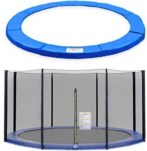 ULTRAPOWER SPORTS Filet de Sécurité et Coussin de Protection de Ressorts pour Trampoline avec Diamètre 244cm 305cm 366cm 397cm 6/8 Barres - (Noir, 397cm 8barres)