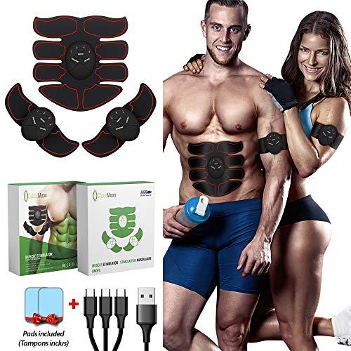 GreenMoon Offre DE Lancement   Electrostimulateur Musculaire   Ceinture Abdominale   Stimulateur Abdominal EMS   Femmes & Hommes   Entraînement Abdominal   Ceinture Massage