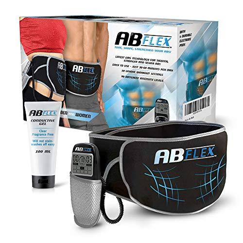 ABFLEX ceinture de tonification abdominale - Aucun coussinet de remplacer - Telecommande pratique pour des ajustements rapides et faciles - 99 niveaux d'intensite